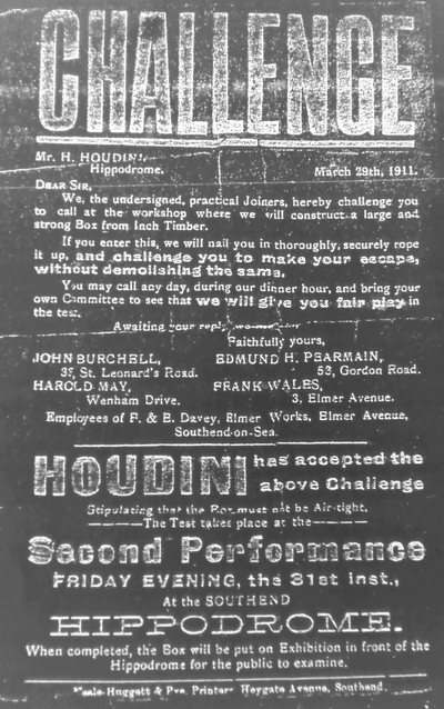 Houdini Challenge in Southend