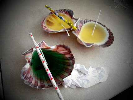 Sea shells tutorial wax