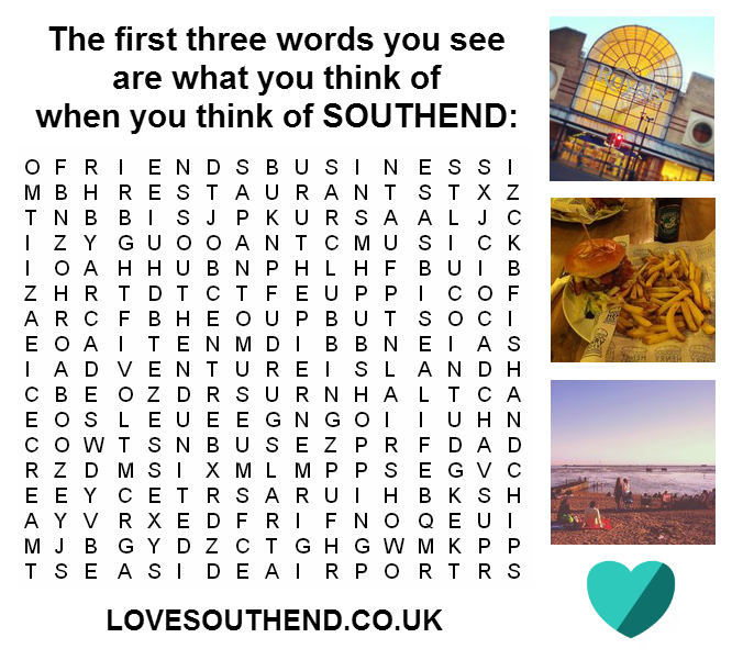 Southend Essex Wordsearch