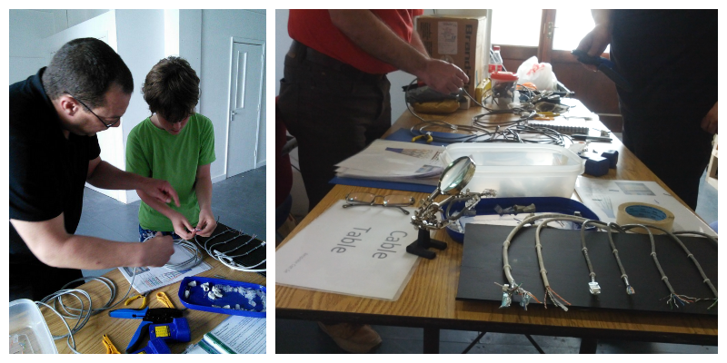 Cable Table and soldering at Raspberry Jam