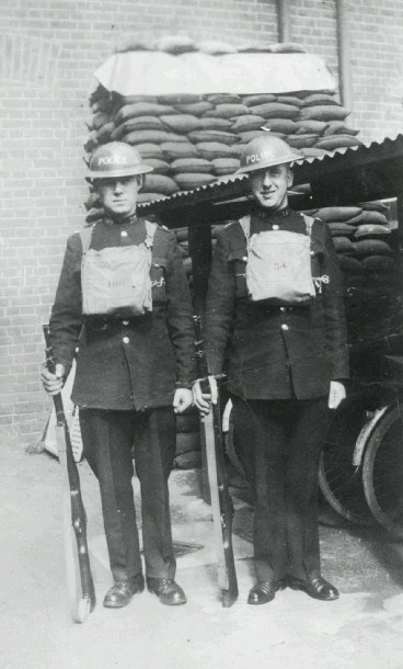 Southend Police Officers on guard duty 1940s