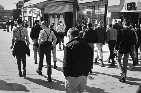 Southend 1979 skinhead gang on high street
