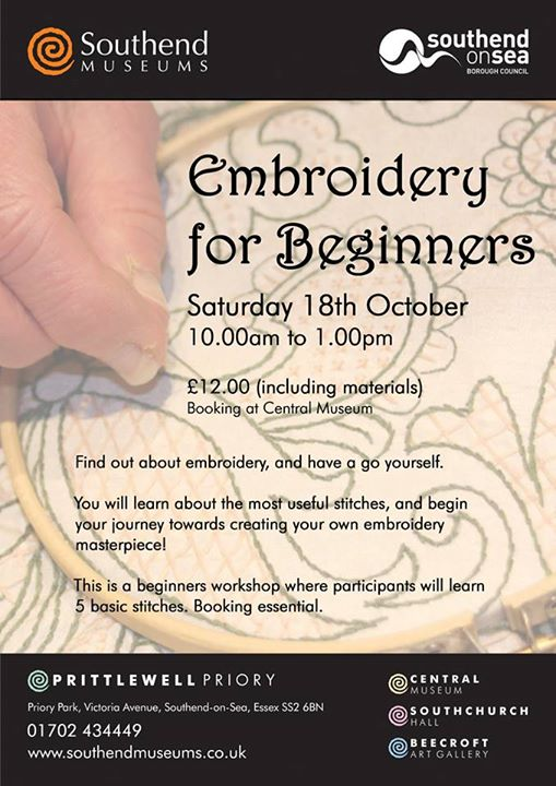 Embroidery for Beginners Southend