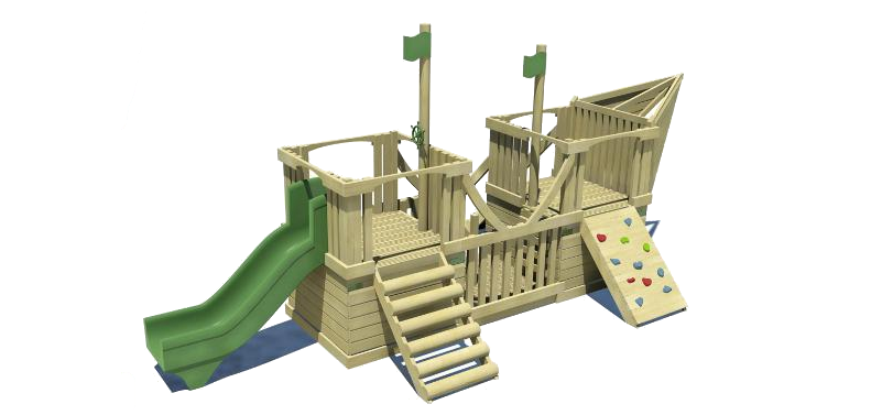 Pirate Ship Playground Structure