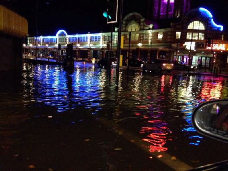 Southend Kursaal Flooded