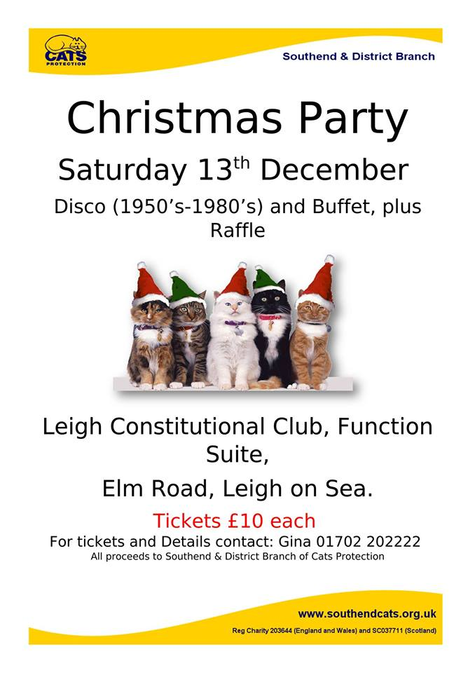 Cats Protection Southend Christmas Party 2014