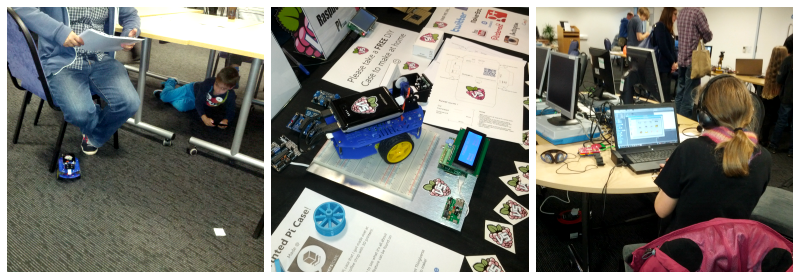 Scratch and Pi Cars at Southend Jam