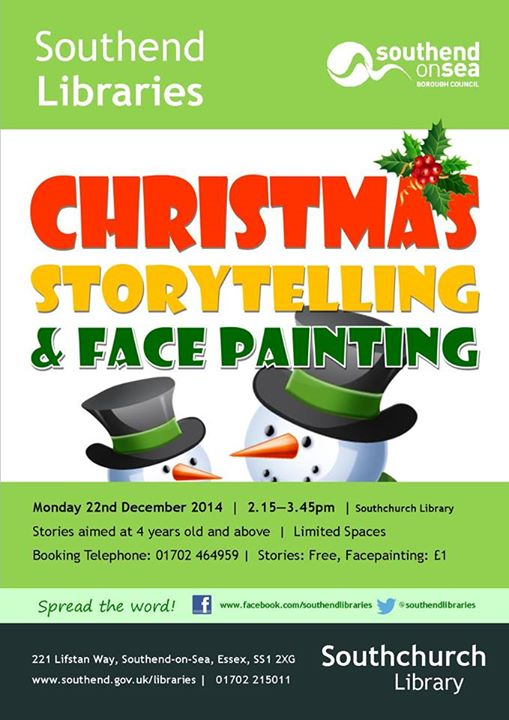 Southchurch Library Christmas Facepainting