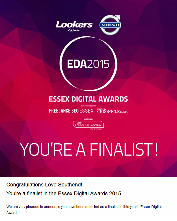 Essex Digital Awards 2015 Finalist