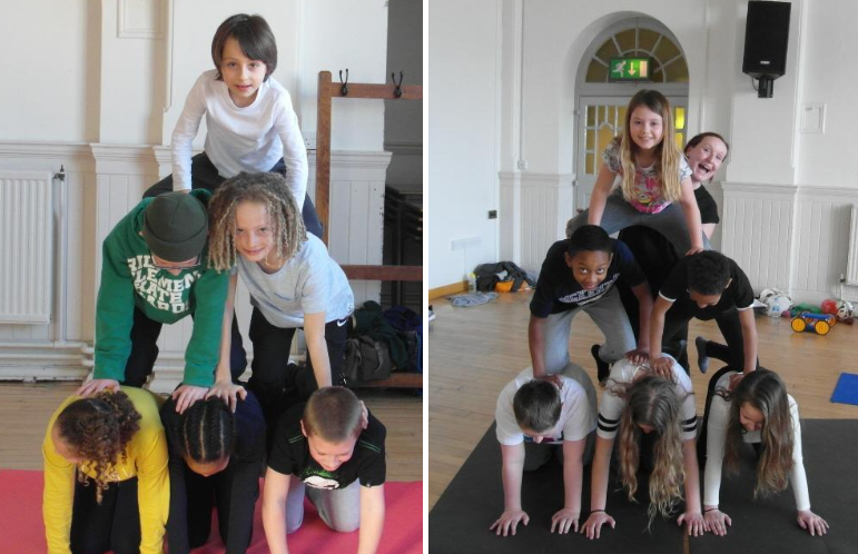 Circus Workshop Human Pyramids