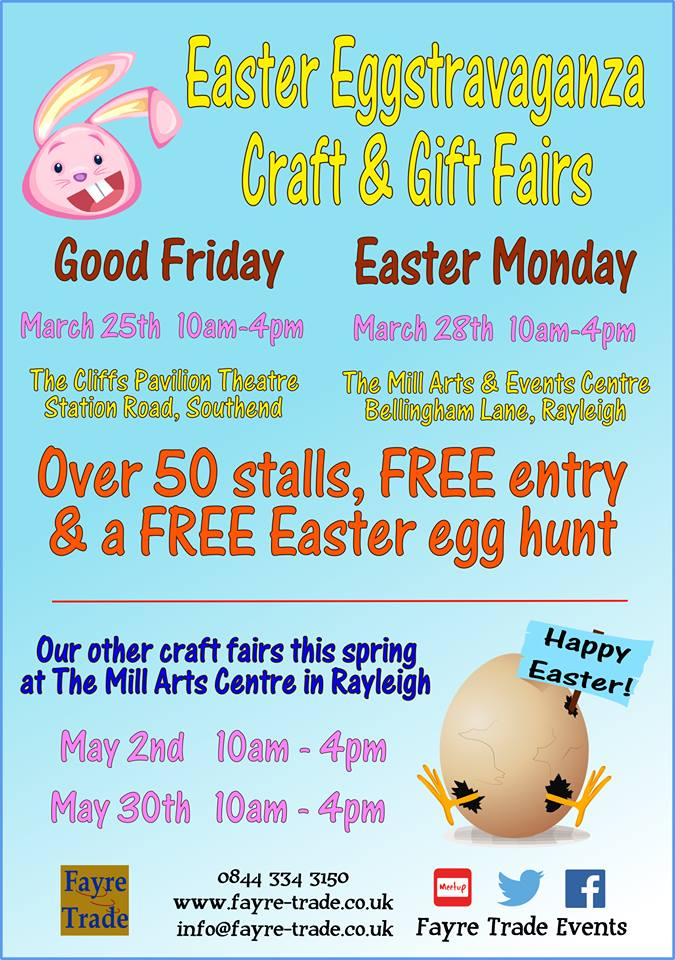 Easter eggstravaganza craft gift fair love southend easter eggstravaganza craft gift fair negle Images
